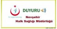 Nevşehir Halk Sağlığı Müdürlüğü'nün 70. Verem Eğitimi ve Propaganda Haftası ile İigili Basın Açıklaması