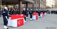Diyarbakır Şehitleri; Düzenlenen Törenle memleketlerine uğurlandı.
