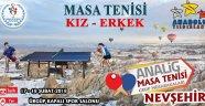 Analig Masa Tenisi Müsabakaları Nevşehir de.
