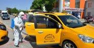 Avanos'ta Taksi Durakları Dezenfekte Edildi.