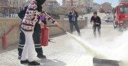 Derinkuyu Cumhuriyet İlkokulu Öğrencileri, Yangın Tatbikatında