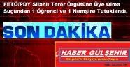 FETÖ/PDY Silahlı Terör Örgütüne Üye Olma suçundan 2 kişi tutuklandı.