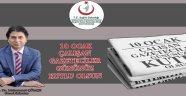Genel Sekreter Çömçe'den 10 Ocak Çalışan Gazeteciler Günü Mesajı