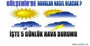 Gülşehir, 7 Mayıs - 11 Mayıs Tarihleri Arasındaki 5 Günlük Hava Durumu.