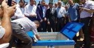 Gümüşkent Köyü Kapalı Sistem Yağmurlama Damla Sulama Tesisine ilk su verildi.