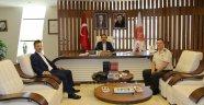 İl Jandarma Komutanı Yiğit'ten Rektör Bağlı'ya Ziyaret