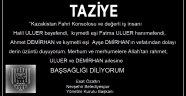 Nevşehir Belediyespor Yönetiminden Taziye Mesajı