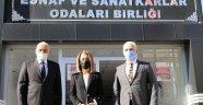 Nevşehir Valisi BECEL Nevşehir Esnaf Odaları Birliğini Ziyaret Etti
