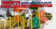 Ürgüp'te Çocuk Parkları Dezenfekte Edildi