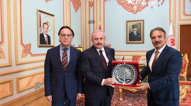 TBMM Başkanı Şentop, Rektör Bağlı'yı Makamında Kabul Etti