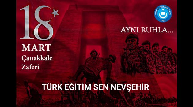 Türk Eğitim Sen Nevşehir Şube Başkanı Urgenç'den Çanakkale, Son kaledir.