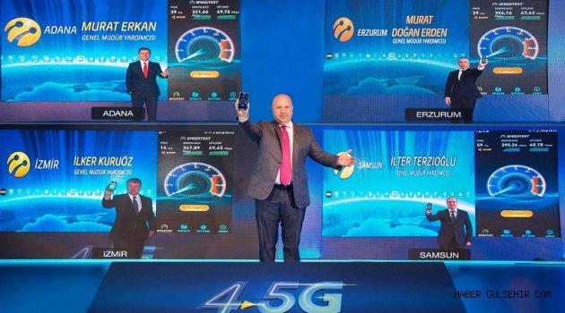 Turkcell 4.5G şebekesi 81 ilde birden hazır