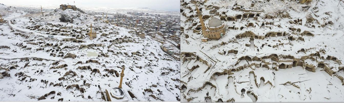 Dünyanın En Büyük Yeraltı Şehri Beyaza Büründü.