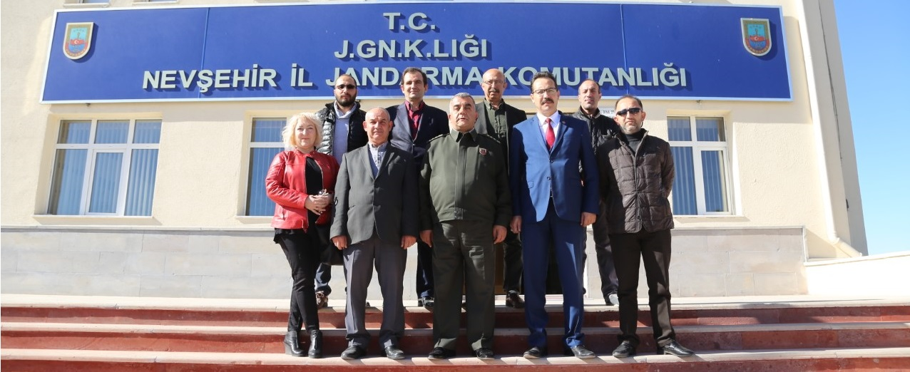 Gazeteciler Cemiyeti'nden Jandarma Komutanına ziyaret