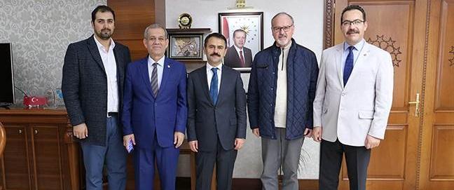 Türkiye Gazeteciler Federasyonu Başkanı Karaca'dan Vali Aktaş'a Ziyaret