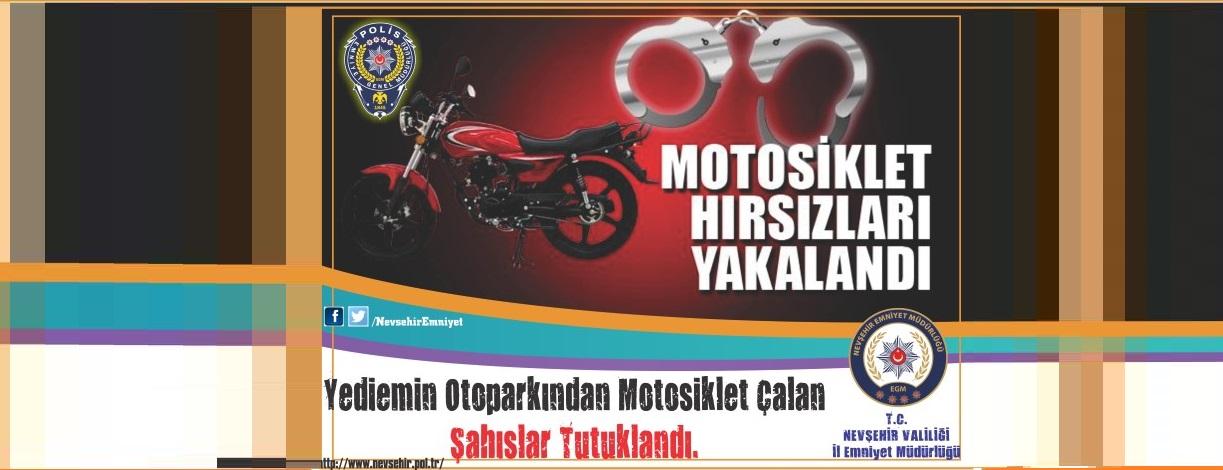 Yediemin Otoparkından Motosiklet Çalan Şahıslar Tutuklandı.
