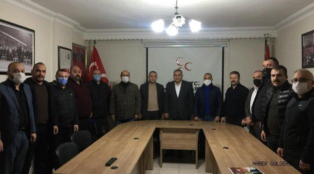 """Ülkü Ocakları'ndan MHP İl yönetimine """"Hayırlı Olsun"""" ziyareti"""