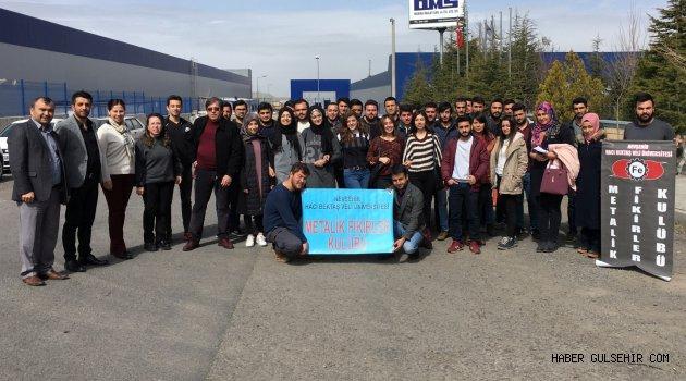 Üniversitenin Metalik Fikirler Kulübünden Firmalara Yönelik Teknik Gezi