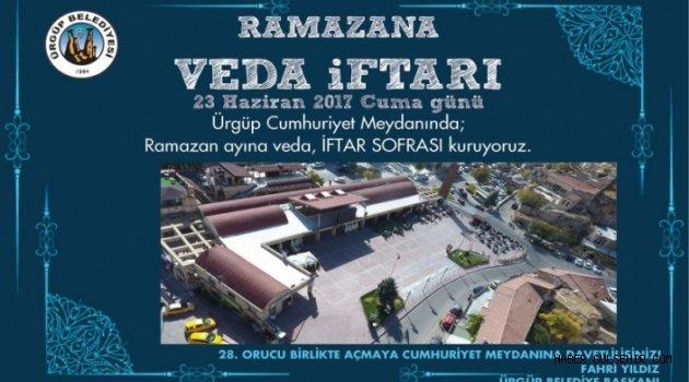Ürgüp Belediyesi tarafından Ramazana Veda İftar Sofrasına Davet