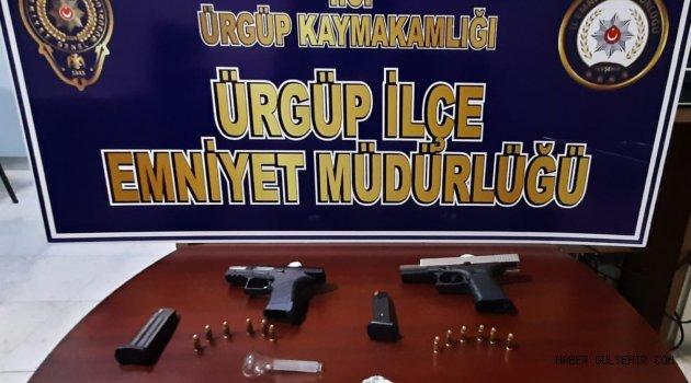 Ürgüp'te Uyuşturucu ve 6136 Sayalı Kanuna Muhalefet Etmek Suçlarından 4 Kişiye İşlem Yapıldı.