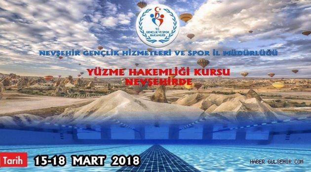 Yüzme Hakem Kursu Nevşehir'de