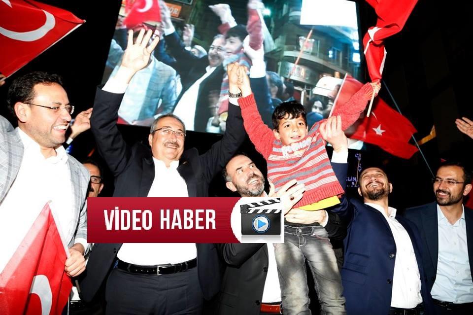 Nevşehir deki Muhteşem Refarandum Kutlamalarından Kameraya Yansıyanlar. VİDEO HABER