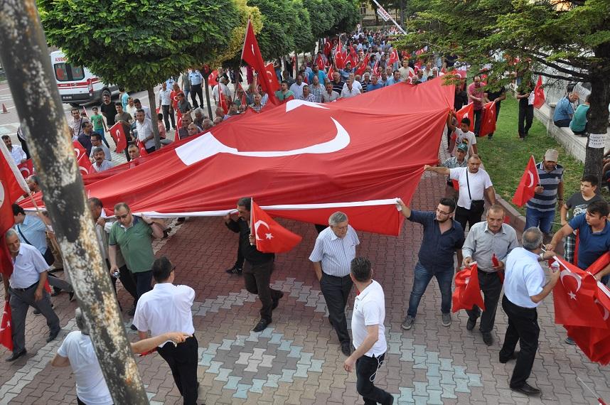 Gülşehir'de 15 Temmuz Yürüyüşü Gerçekleştirildi. VİDEO HABER