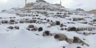 Nevşehir Kalesi ve Yeraltı Şehrinin Muhteşem Kar'a Bürünmüş Video Görüntüsü.