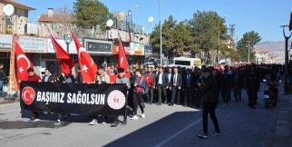 Gülşehir İdlib Şehitleri İçin Yürüdü. VİDEO HABER